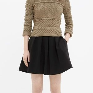 Madewell Black Pleated Skirt